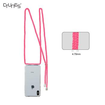 C&T Bling Cute TPU Crossbody Handykette Mobile Cell Phone Case with Detachable Necklace Strap Long Chain For iPhone X XS XR