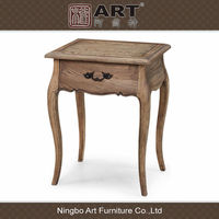 Antique european furniture wooden natural color tea table