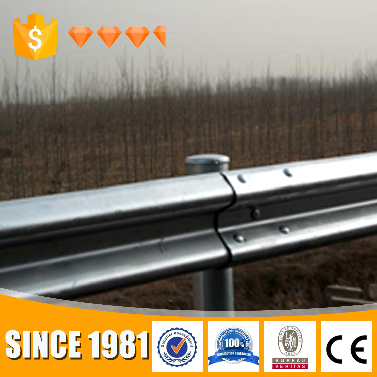Timely shipment galvanized metal beam crash barrier guard rail highway fence