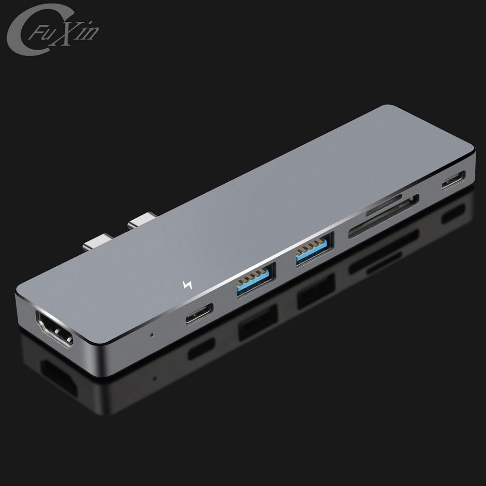 2017 hot style usb 3.1 c-type vga multiport adapter of China National Standard