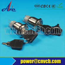 electrical key switch,insert card for power,keycard switch for hotel use spring return rotary switch