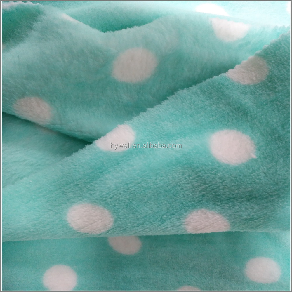 100% Polyester baby blanket flannel fabric, flannel fabric for bathrobe or blanket