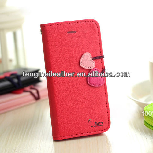 Cherry leather case cover for iphone5,for iphone5 red housing,Fancy cell phone cases for iphone5