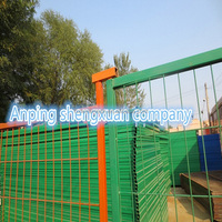 Reractable construction temporary fencing for dogs