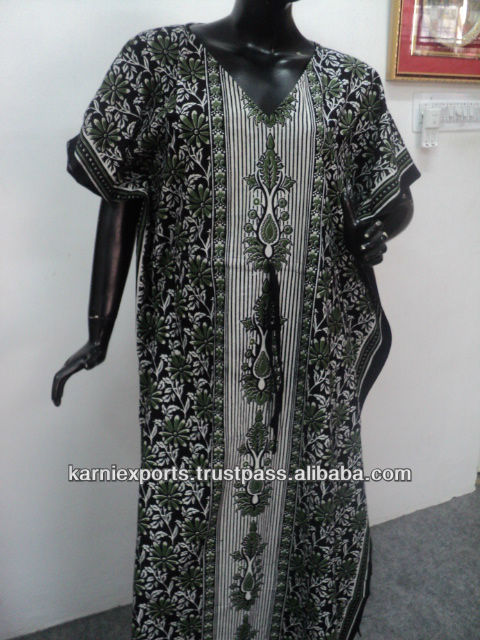 Evenging Cotton Printed Long Gowns Kaftans Caftans dresses women girls Spanish Mexican gowns