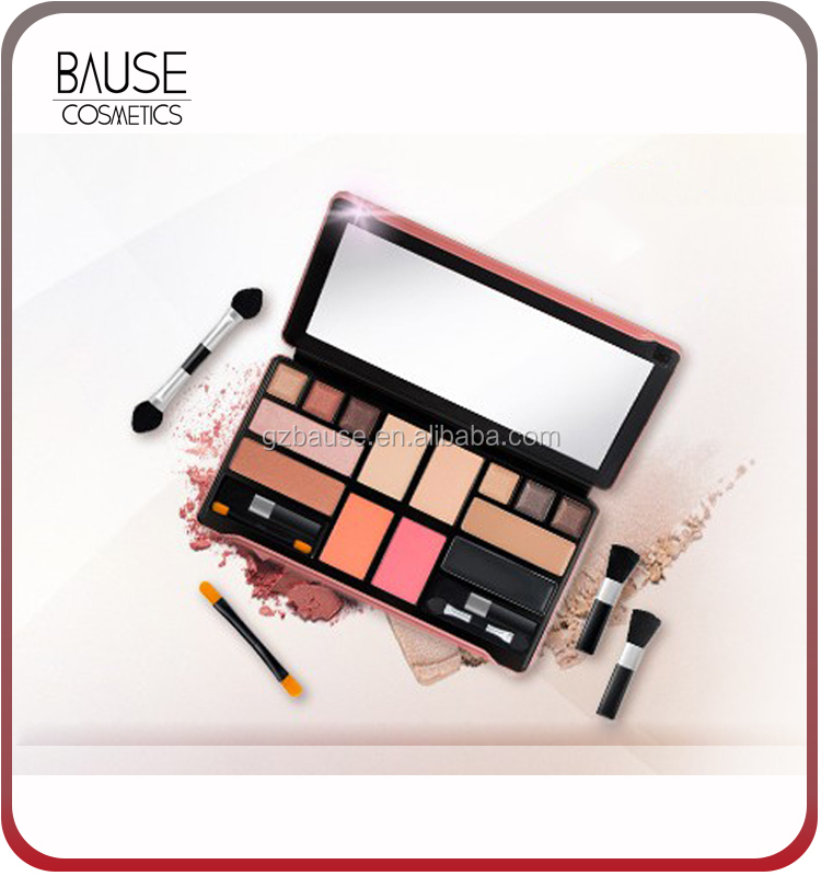 Custom blush palette with eyeshadow eyeliner foundation
