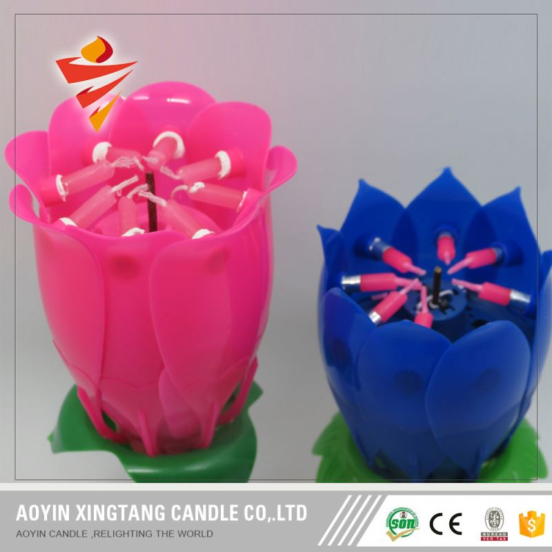 flashing fancy birthday candle