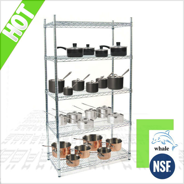 NSF & ISO kitchen stainless steel wire shelves