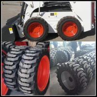 China cheap mini skid steer loader for sale, bobcat tires 10.16.5 12.16.5 with fast delivery