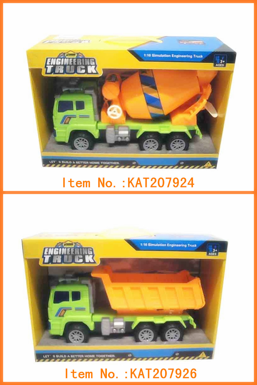 Factory Price Funny Kids Eco Friendly Friction Construction Truck Plastic Car Toys For Sale