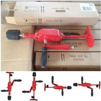 Double Pinion Two Speeds Cast Iron Body Three Jaw Portable Handheld Manual Breast Drill Machine Mini Automatic Hand Drill