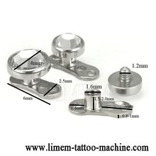 dermal fashion 316L surgical steel with anodizing Labret body piercing jewelry