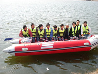 Liya enjoyable reasonable price 6.5m inflatable boat with outboard motor