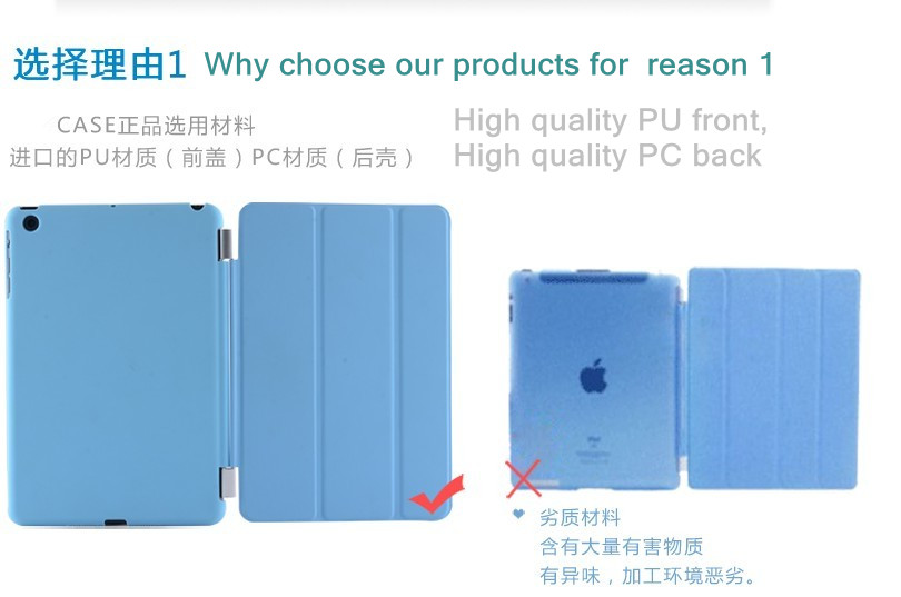 cusomized case for ipad , 360 degree rotating slim smart case for ipad mini/ipad2/ipad3/ipad4/ipad5