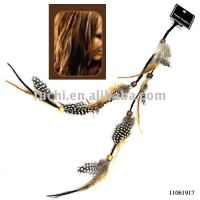 Feather feather hair extension in fashion design