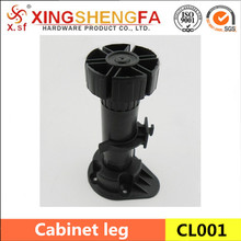 Kitchen plastic adjustable cabinet leg,furniture leg
