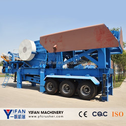 Tire type stone mobile crusher with competitive price, crusher price