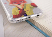 Soft TPU for Apple iphone 6 6s 5 5s plus Clear Phone Cases Cover For Coque Zootopia Nick Fox wilde Judy