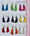 Color Earrings Feet Shape Original Peruvian Bone Jewelry Art Wholesale