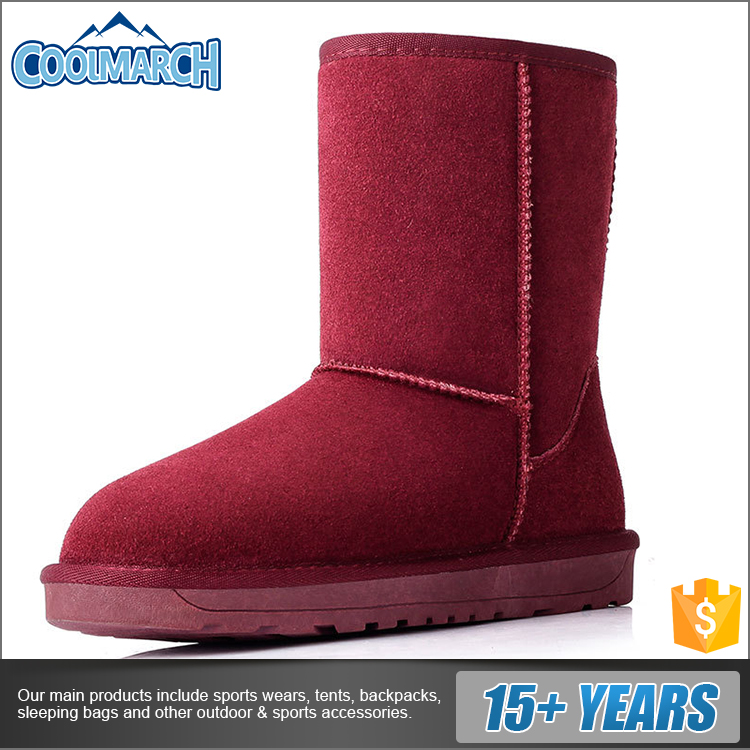 Cold winter warm snow boots lady style with different colors for wholesale