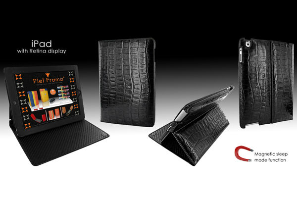 Cinema Wild-Crocodile Leather Case for iPad