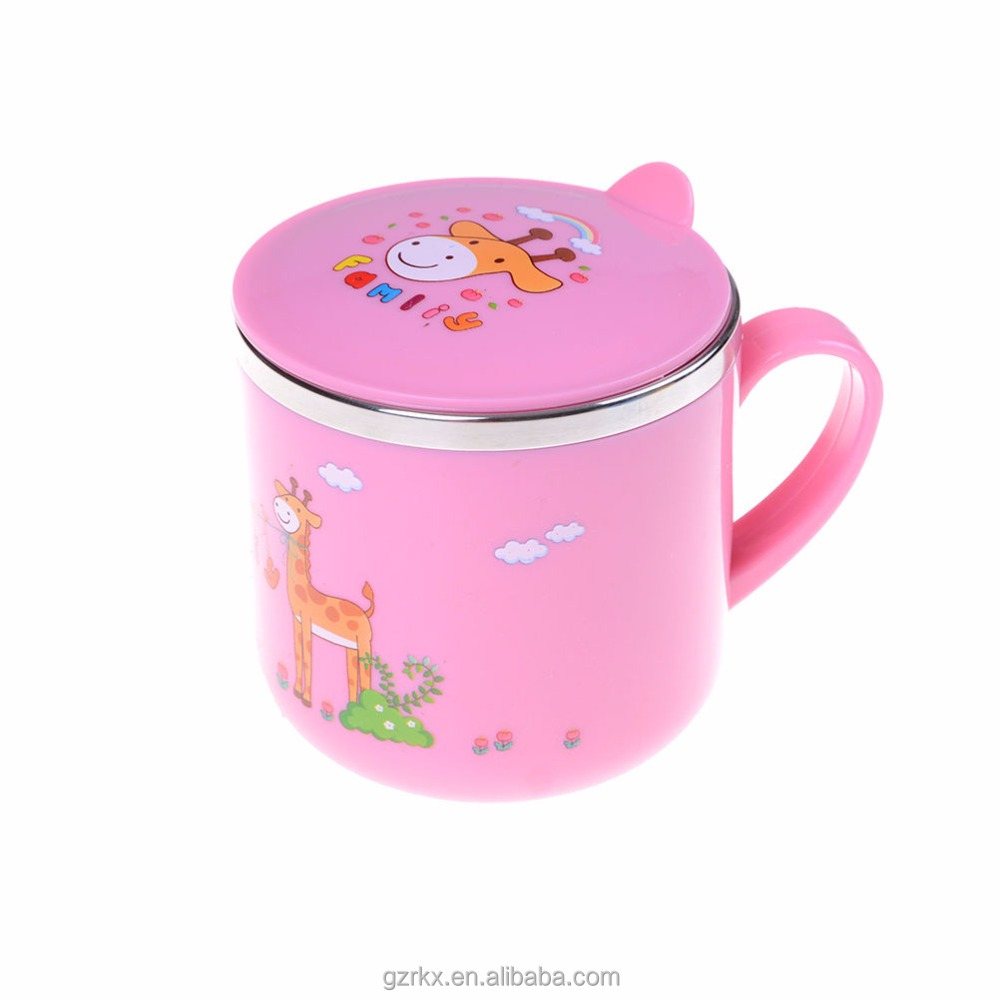 Mini stainless steel vacuum pot for feed baby,children with super high quality mug,Children Feeding Water Bottle With Handle