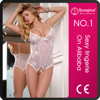 Exclusive top quality adult girls see through corset lace body wedding dress