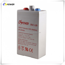 free maintenance opzv battery rechargeable 2v 200ah tubular plates