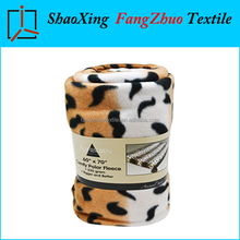 low price wholesale fleece blanket customized printed plush throw