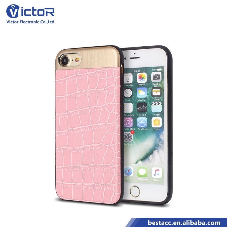 Made in china phone accessory protector cover phone cover paste leather mobile case for iphone 7