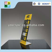High quality of unique acrylic L display stand wholesale from shenzhen china