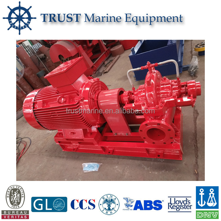 Electrical motor driven horizontal case fire fighting centrifugal pump