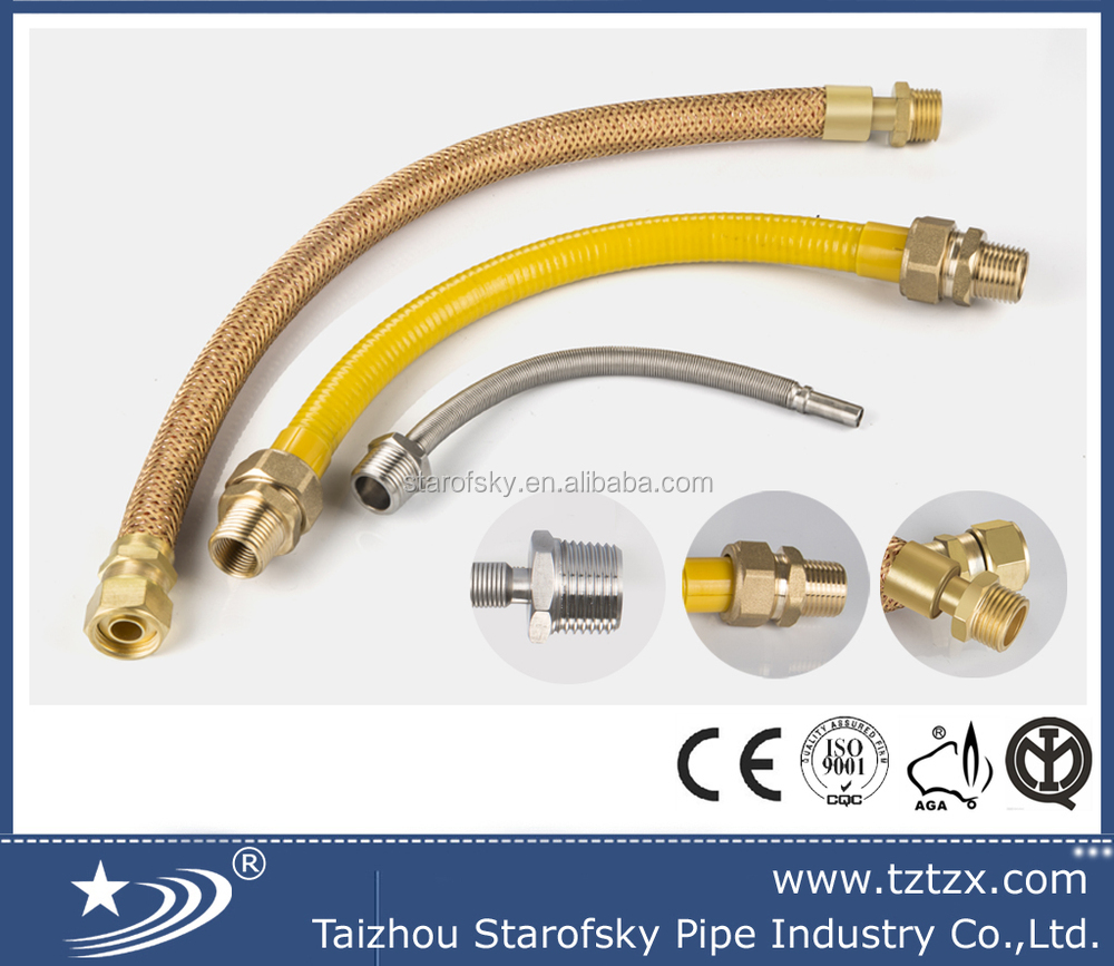 South america AISI304 and brass copper flexible gas hose