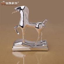 Factory wholesale home decoration abstract resin horse figurine