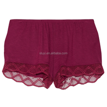 lace trimmed jersey pajama booty shorts wholesale women boy shorts sexy womens transparent beach running shorts