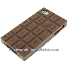 New chocolate shape silicone case for iphone5 5ss