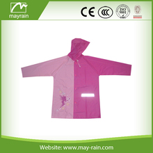 girls pink safety waterproof raincoat
