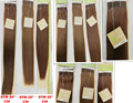 "In stock 100% Hair Weave Double Drawn Hair Club SINA 20"", 22"" dark brown 33# 9A dark brown hair weave"
