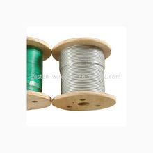 Pvc/pu spring steel wire rope