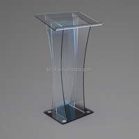 High quality factory price eco-friendly acrylic material acrylic podium pulpit lectern