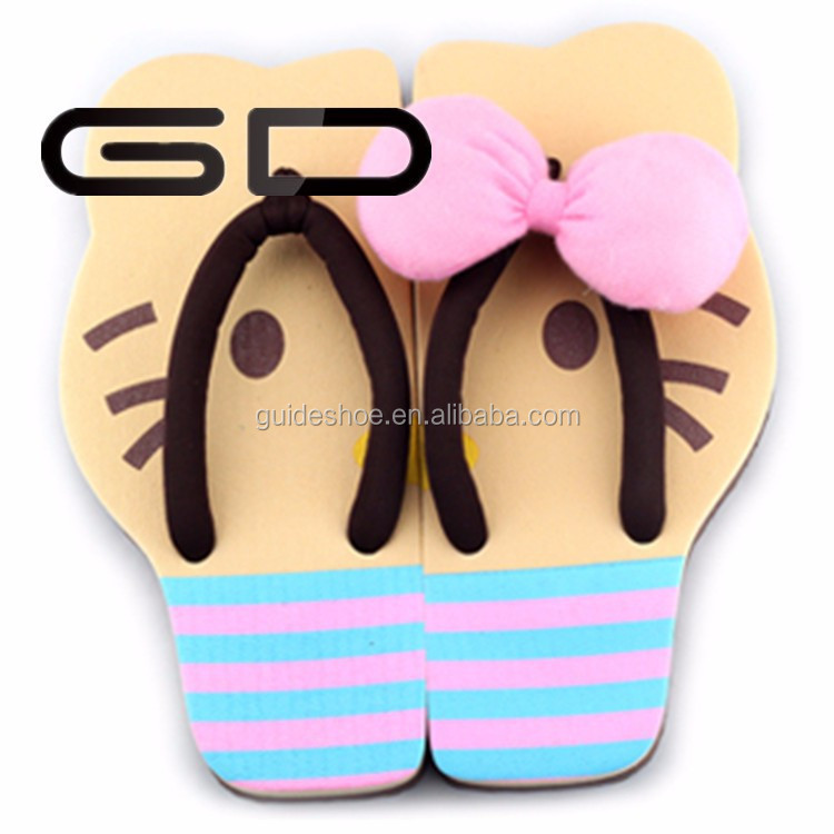 2015china mixed colors design eva sole girls summer beach PVC slipper flip flops wholesale