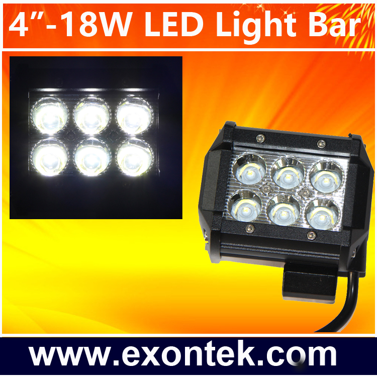 2017 Automotive lamps imported 12 volt offroad led light bar 4X4 Head lamp 18W Crees Chips Tractor UTV Off Road 4WD