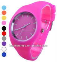 2012 silicone bracelet watches women round face super thin silicone brand watches