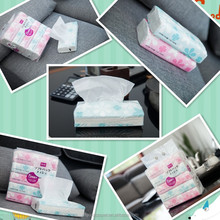 Best Quality super soft Natural White flat box facial tissue