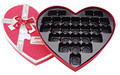 heart shaped gift box chocolate packaging box with ribbon tie