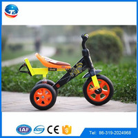 three wheel bicycle for kids/new trikes with suspension/hot sale yellow baby tricycle