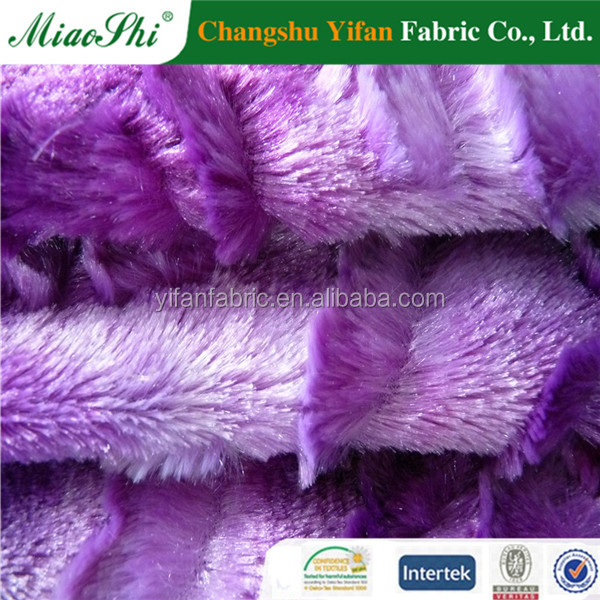 100% polyester nature dyeing fur sofa fabric passed ISO9001 for winter market