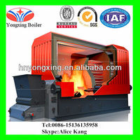 Automatic Chain Coal Wood Fired 1 ton Steam Boiler For Rice Mill