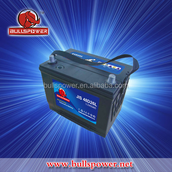 Largestar nagoya JIS 48D26L 12v 50ah japan car battery brands