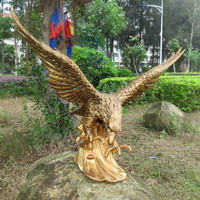 2016 garden animal sculpture elegant cast brass eagle statue sculpture
